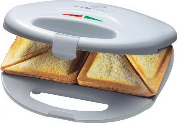 Clatronic Sandwichtoaster / Sandwich-Toaster ST 3477 WEISS